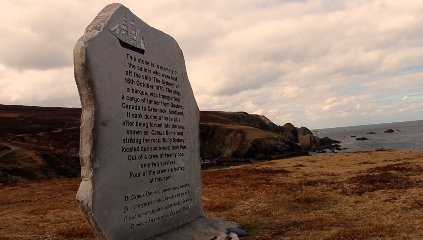 Port, Donegal, Ireland. Memorial Plaque